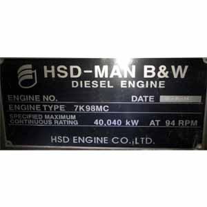 Man B&W 7 K 98 MC