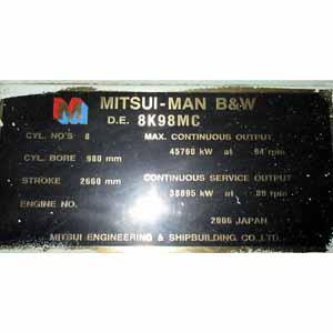 Mitsui Man B&W 8 K 98 MC