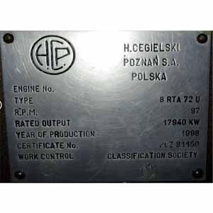 Sulzer 6 RTA 72 U