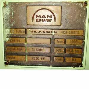 Man B&W 5 L 60 MC