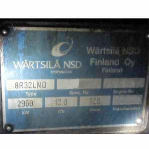 Wartsila 8 R 32 LND